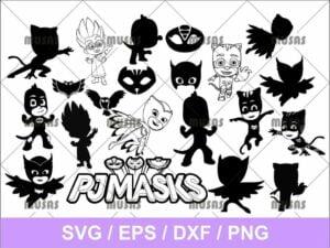 PJ Mask SVG Bundle Cut File png transparent