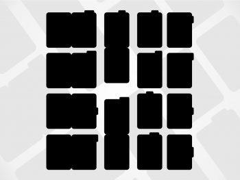 Tabbed Folder Tags Cut File SVG Design