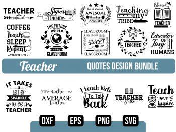 Teacher SVG Bundle Design Vector File