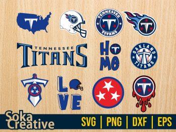Tennessee Titans SVG Bundle Cut File
