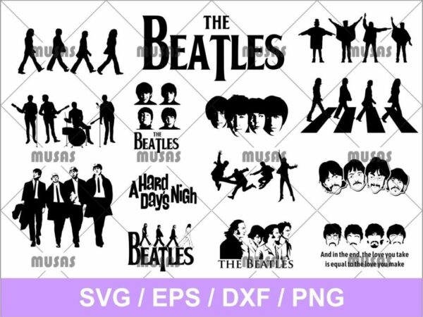 The Beatles SVG Bundle Cricut Files