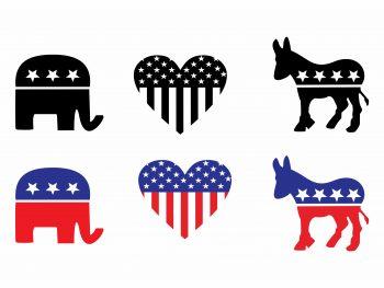 USA POLITICAL PARTIES SYMBOLS SVG CRICUT FILE