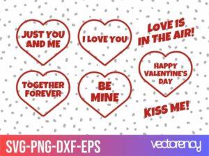 Valentines day svg vector
