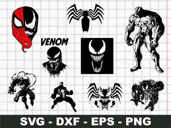 Venom SVG Bundle Cricut File Vector