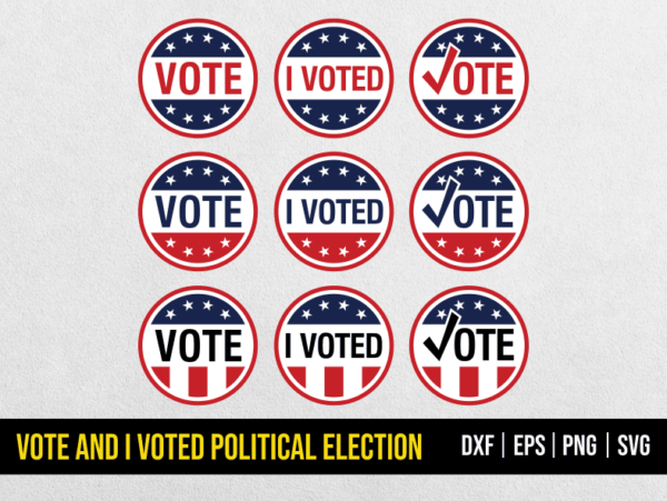 Vote svg and i voted political election Vote SVG