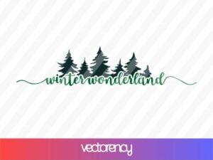 WINTER WONDERLAND SVG CRICUT FILE