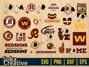 Washington Football Team Redskins SVG Cricut Vector File