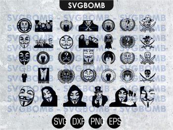 anonymous svg bundle cricut file