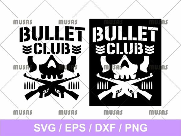 bullet club svg cut file vector PNG