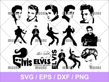 elvis presley svg bundle cricut file png transparent