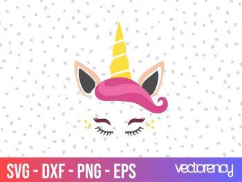 free unicorn svg cut file
