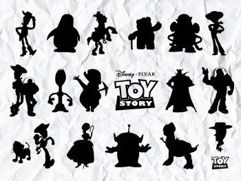 toy story silhouette svg bundle cricut File