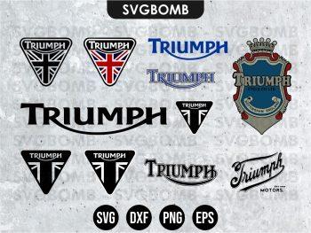 triumph svg bundle logo bikes vector
