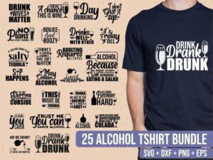 25 alcohol tshirt bundle