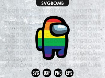 Among Us LGBT Pride svg cricut file