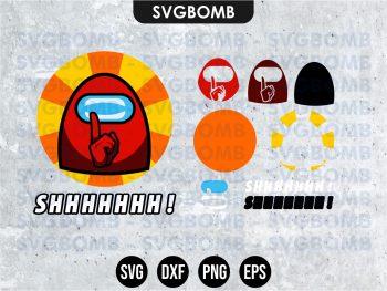Among Us Shh SVG Cricut File