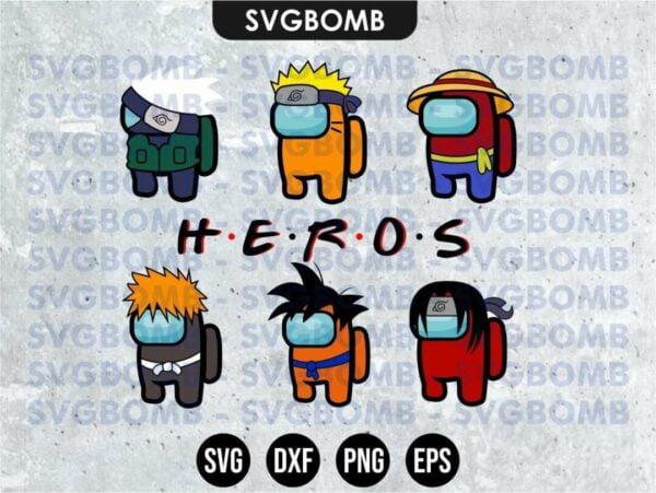 Among us Anime Svg Vectorency Among Us SVG Mega Bundle