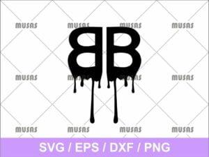 Balenciaga Drip Logo Svg Cricut File Vector