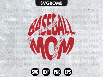Baseball Mom SVG Cricut Files