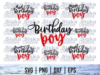 Birthday boy SVG Bundle Cricut File