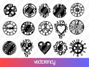 CNC Wall Disco Watches DXF SVG Laser Cut File