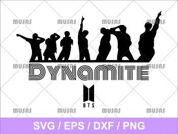 Dancing BTS Dynamite SVG Cricut File Vector