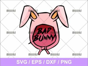 De Bad Bunny Logo SVG Cut File