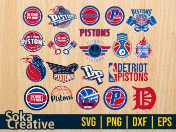 Detroit Pistons SVG Bundle Cut File