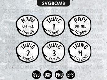 Dr Seuss Family Design SVG Cut File