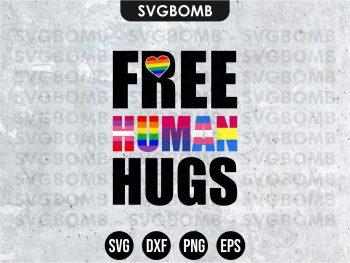 Free Human Hugs SVG Cricut File