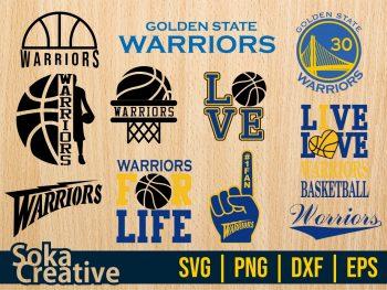 Golden State Warriors svg cricut file vector