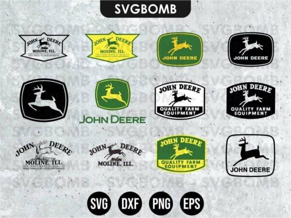 John Deere Logos SVG Cricut File