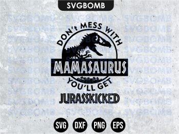 Jurassic Park mamasaurus svg cricut file vector