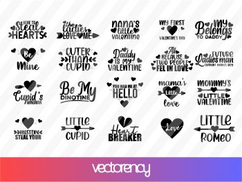 Kids Valentine's Svg Bundle Cut File