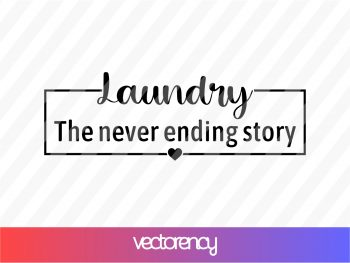 Laundry The Never Ending Story SVG Cut File PNG Transparent