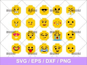Lego Head Emoji SVG Cricut Files