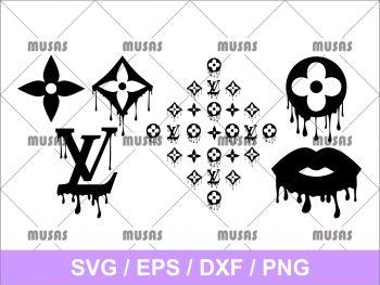 Louis Vuitton Drip logo Svg Cut File PNG Transparent