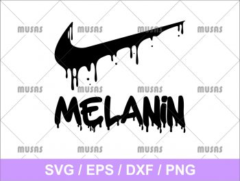Melanin Nike Dripping Logo SVG cricut File EPS Vector