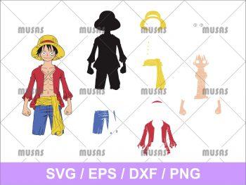 Monkey D Luffy One Piece SVG Cricut File Vector