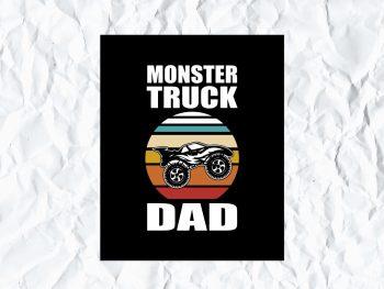 Monster Truck Dad SVG Cricut File