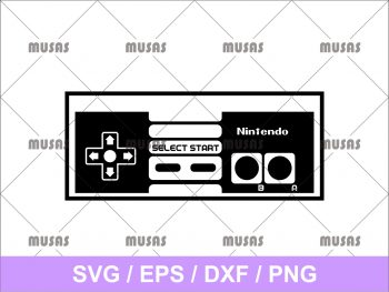 Nintendo NES Controller SVG Cricut File