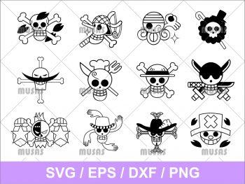 One Piece logo pack svg cut file png transparent