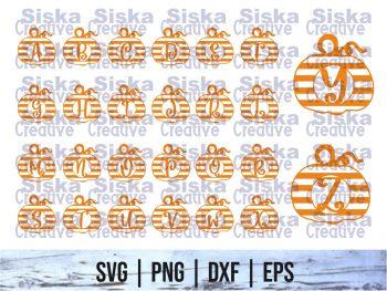 Pumpkin SVG Letter Set Cricut File