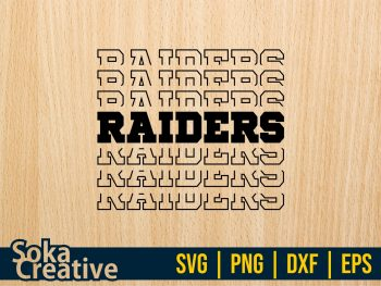 Raiders SVG Cricut Vector File