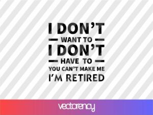 Retirement SVG Gift For Man Cricut File