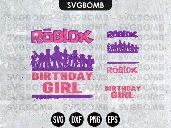Roblox Birthday svg cricut file