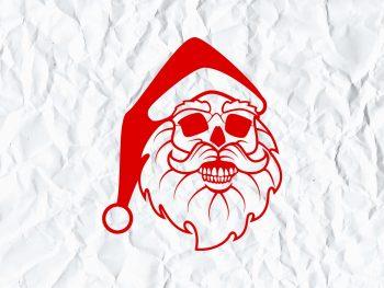 Santa Skull svg cricut file