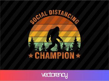 Social Distancing Champion SVG Cutting File Cricut