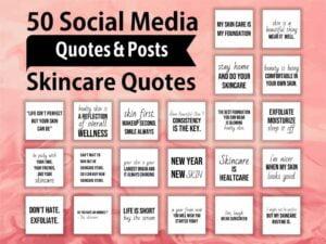 Social Media Skincare Quotes for Instagram jpg design
