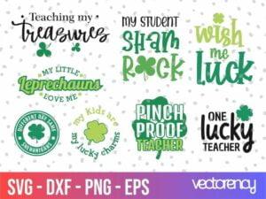Teacher's St Patricks Day SVG Cricut File vector